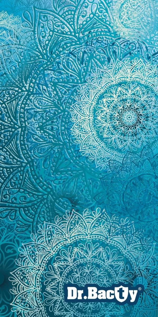 Ręcznik szybkoschnący na plażę Dr.Bacty - Mandala Blue