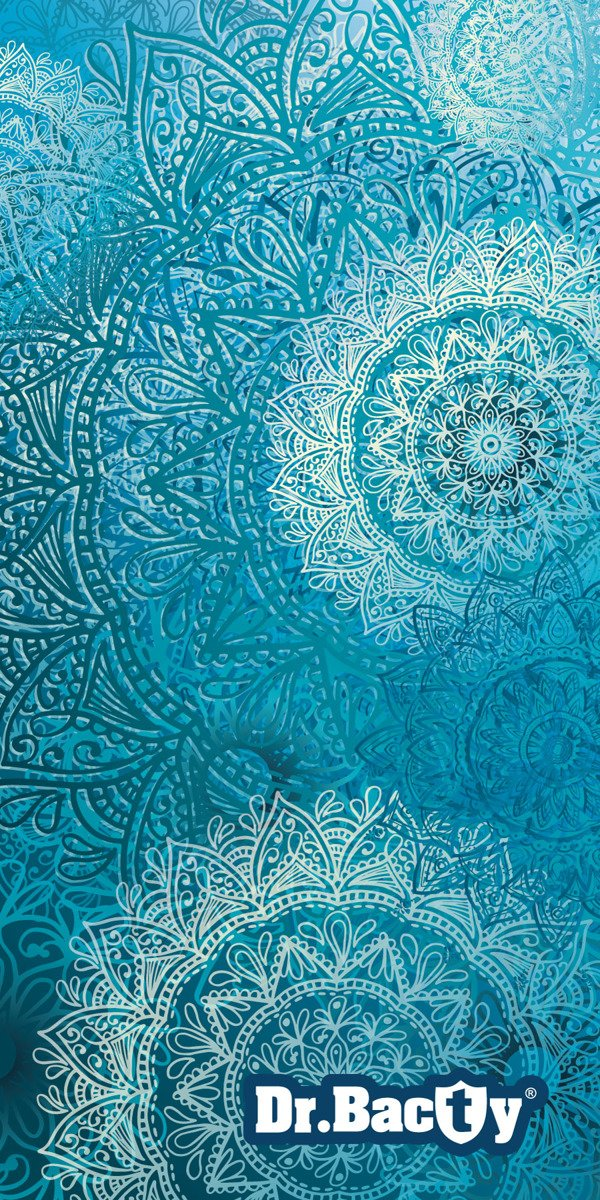 Ręcznik treningowy Dr.Bacty L Mandala Blue