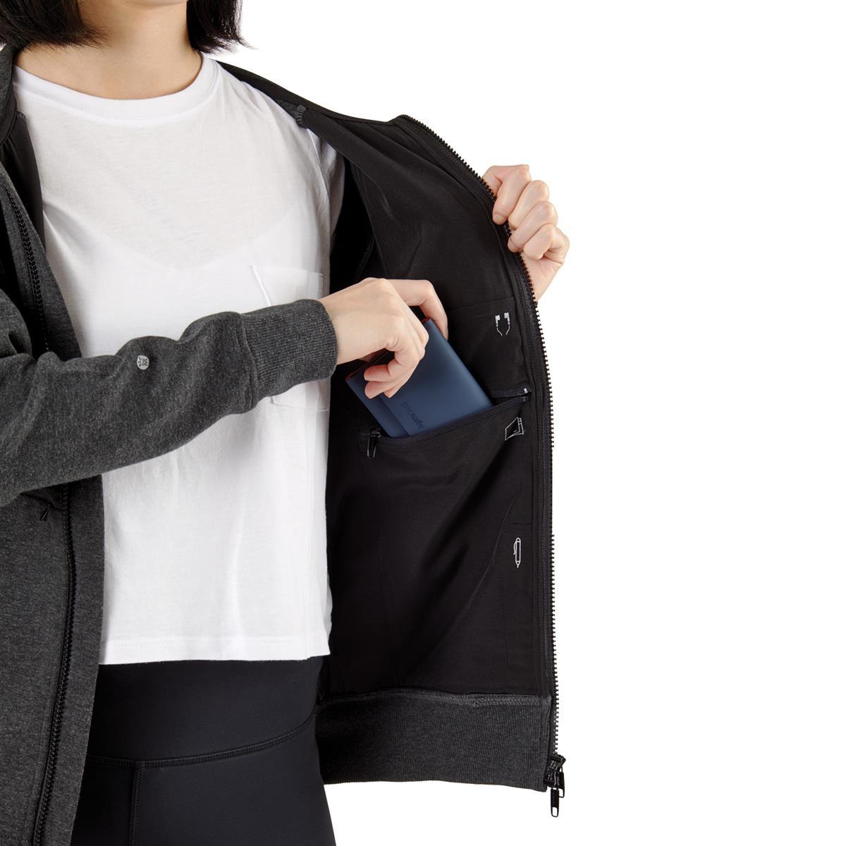Bluza Transit z Polygiene oraz RFIDsafe marki Pacsafe