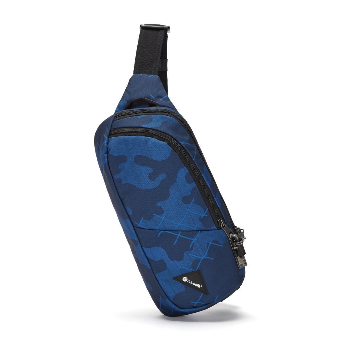 Saszetka nerka antykradzieżowa Pacsafe Vibe 150 Blue Camo