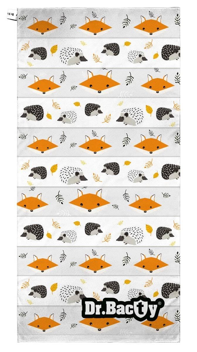 Dr.Bacty ręcznik szybkoschnący dla dziecka 70x140 Lis i Jeż
