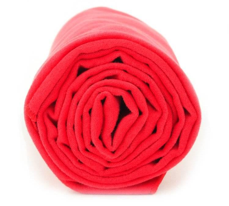 Dr.Bacty ręcznik szybkoschnący Basic 43x90 - czerwony