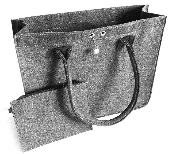 Filcowa torebka damska z portfelem marki Halfar