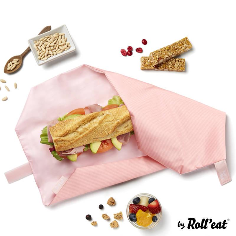 Opakowanie na śniadanie Roll'n'Eat różowy