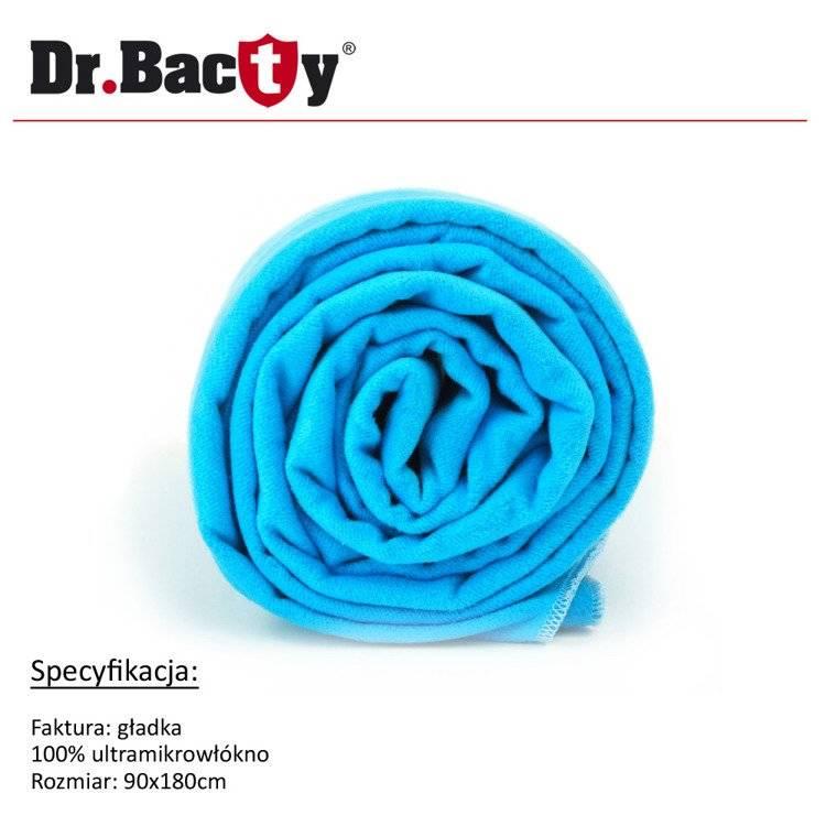 Ręcznik kąpielowy 90x180 - Dr. Bacty - nieibieski