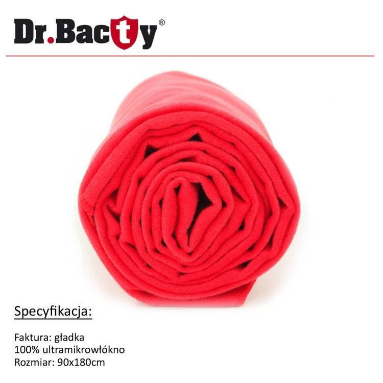 Ręcznik kąpielowy 90x180 Dr. Bacty - czerwony