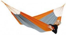Lekki hamak Amazonas Silk Traveller Orange-Grey