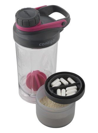 Shaker Contigo z pojemnikiem Shake and Go Fit 650ml - wildberry pink